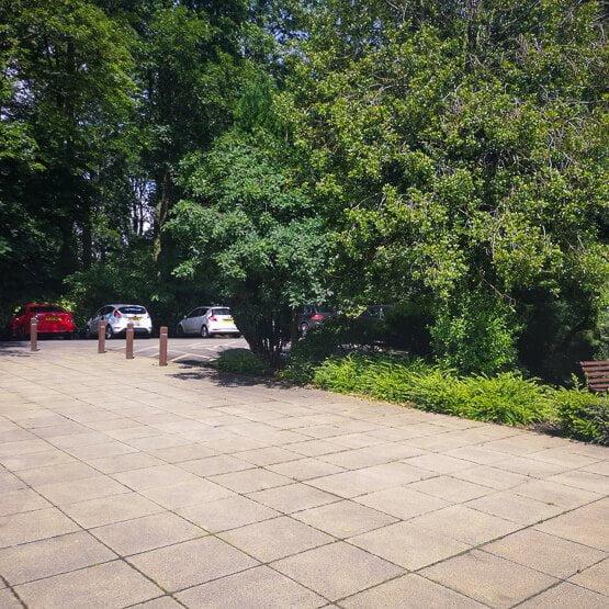CALVEO car park at the King Centre, Oakham