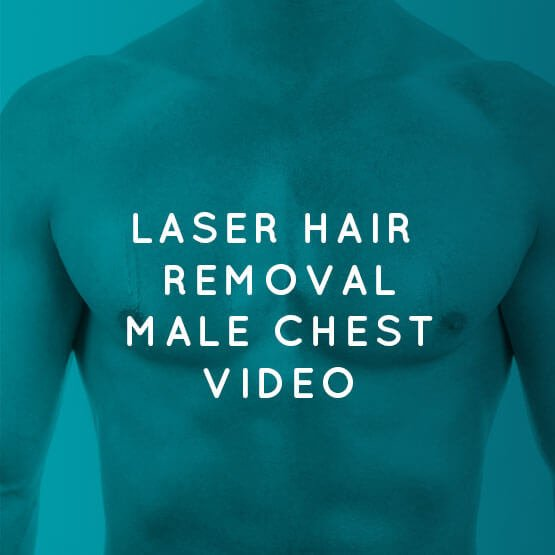 Laser hair removal chest