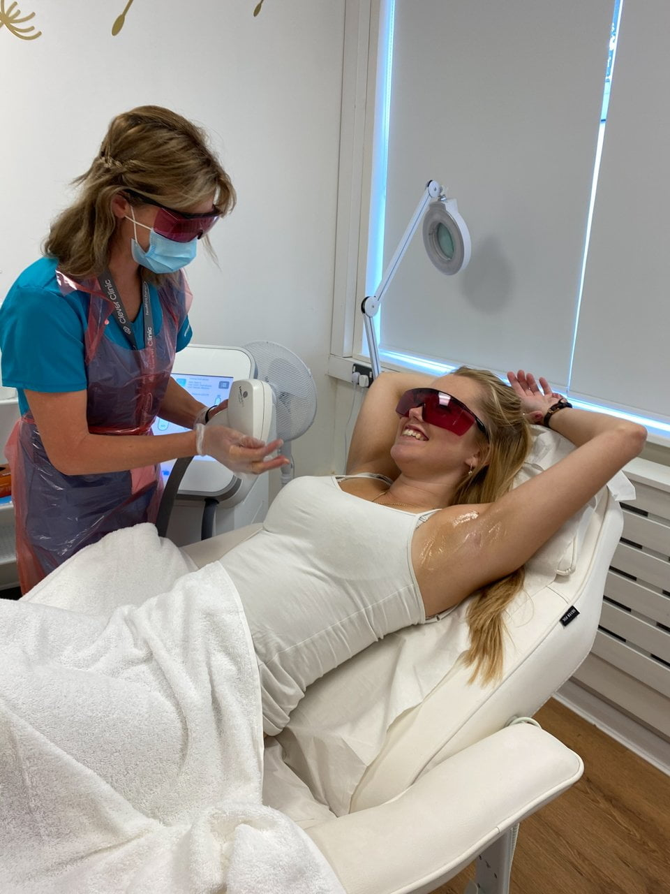 Laser hair removal on underarms
