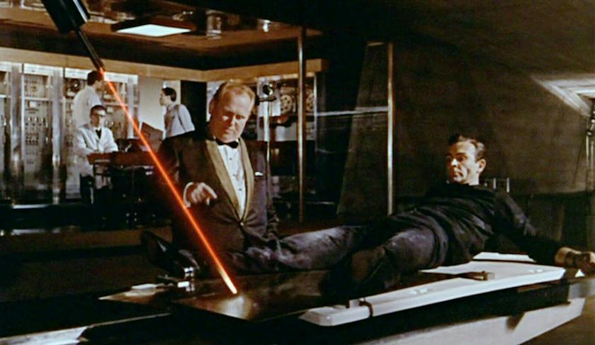 James Bond Goldfinger Laser Scene